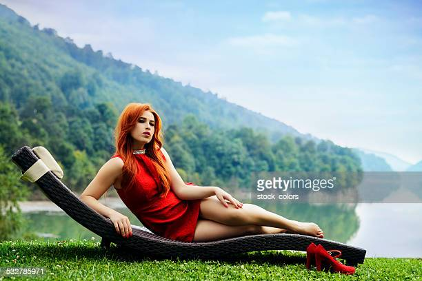 fashion woman relaxing