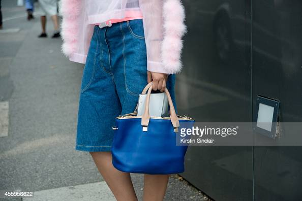 Fashion writer and blogger Susie Lau wearing Chanel Couture shorts on day 4 of London Collections Women on September 15 2014 in London England