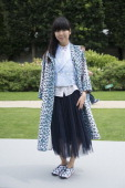Fashion writer and blogger Susie Lau wearing Dior day 2 of Paris Haute Couture Fashion Week Autumn/Winter 2014 on July 7 2014 in Paris France