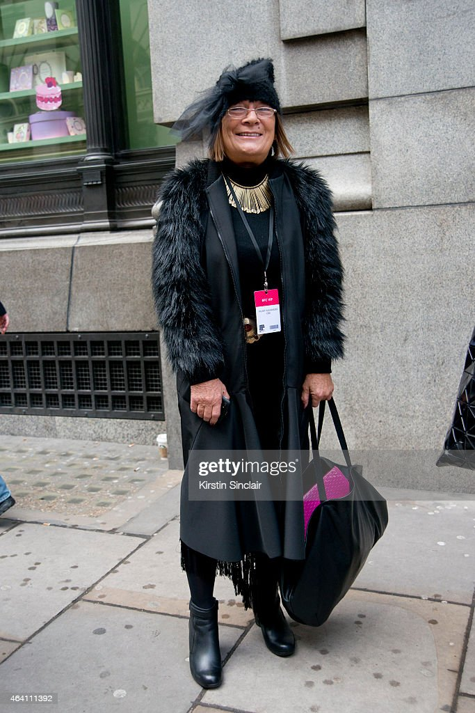 Fashion Writer Hilary Alexander on February 21, 2015 in London, England.