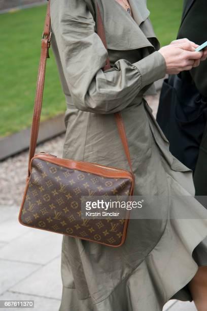 Fashion writer Jess CartnerMorley wears a Louis Vuitton bag on day 4 of London Womens Fashion Week Autumn/Winter 2017 on February 20 2017 in London...
