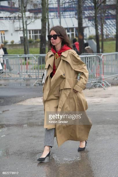 Fashion writer Natasha Goldenberg on day 2 during Paris Fashion Week Autumn/Winter 2017/18 on March 1 2017 in Paris France Natasha Goldenberg