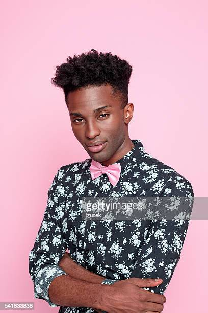 Fashionable afro american young man