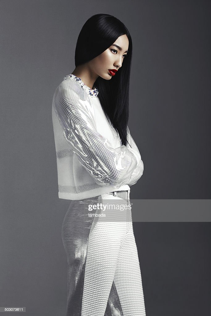 Fashionable Asian woman : Stock Photo