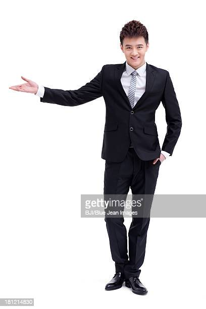 Fashionable businessman greeting