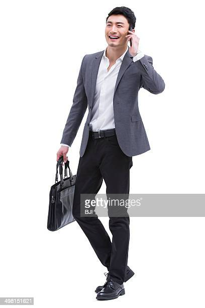 Fashionable businessman on the phone