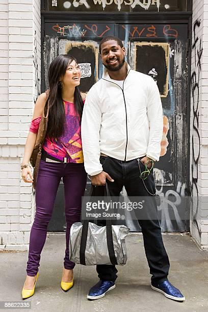 Fashionable couple