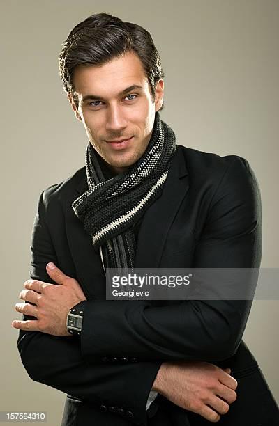 ファッショナブルな男性モデル