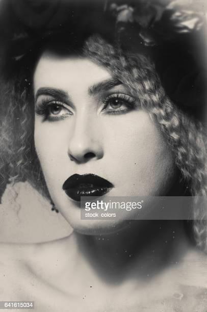 fashionable monochrome portrait