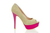 Fashionable Peeptoe High Heels in fancy colors