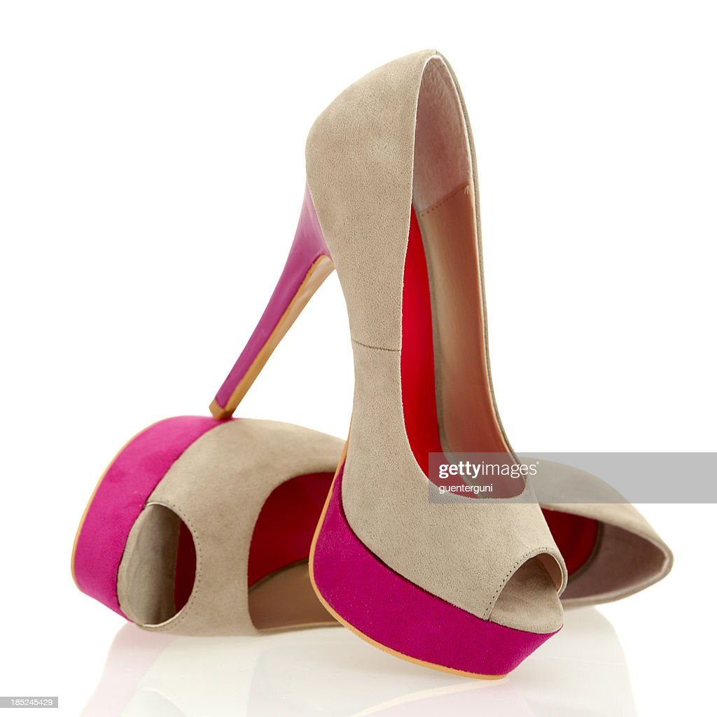 Fashionable Peeptoe High Heels in fancy colors