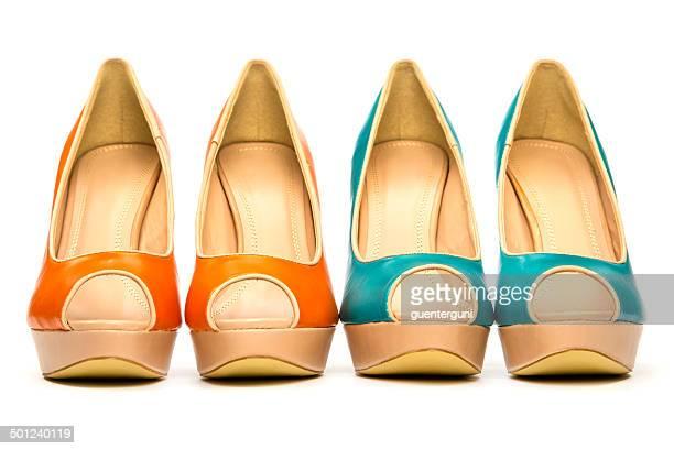 Modische Peeptoe High Heels Schuh