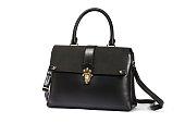 Isolated black Leather Handbag