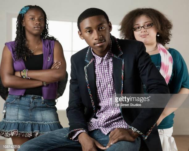 Branché des adolescents