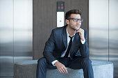 Fashionable young businessman, portrait