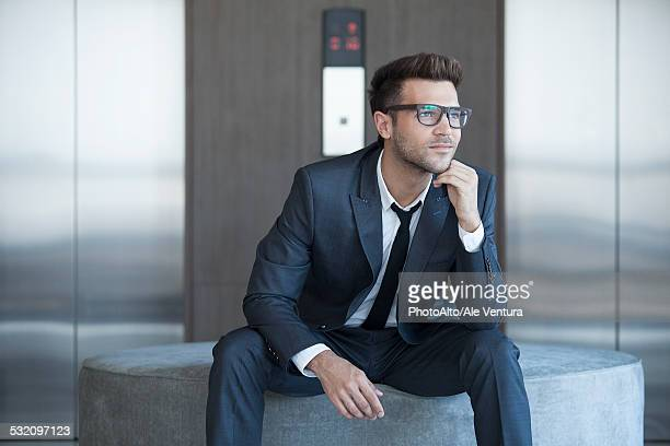 Fashionable young businessman, portrait