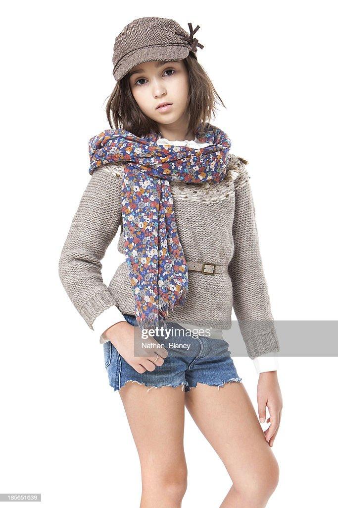 Fashionable young girl