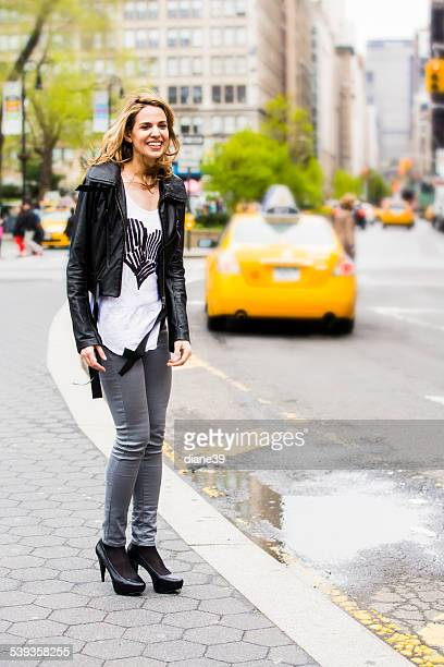 Fashionable Young Woman in New York City
