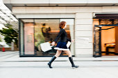 Fashionable Young Woman Tokyo Shopping Mall