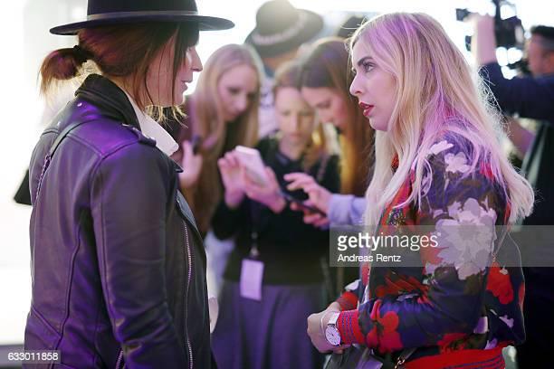 Fashionblogger Jennifer Schleich and Fashionblogger Katharina Bansemer attend the Fashionbloggercafe during Platform Fashion January 2017 at Areal...