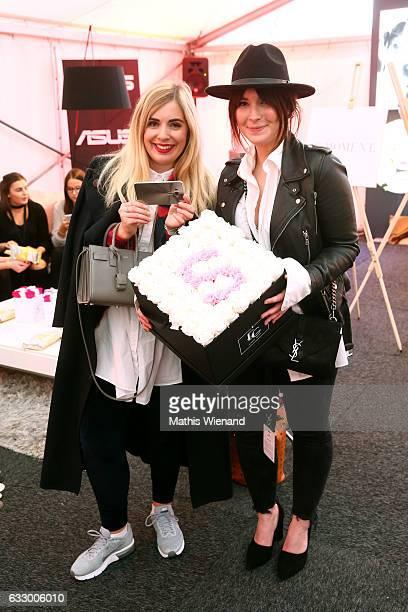 Fashionblogger Katharina Bansemer and Fashionblogger Jennifer Schleich attend the Fashionbloggercafe during Platform Fashion January 2017 at Areal...