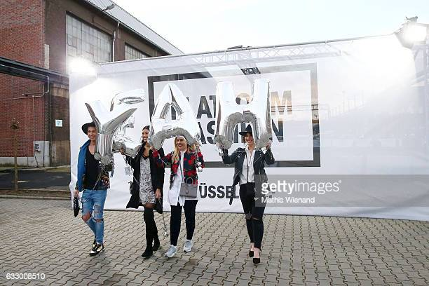 Fashionblogger Maximilian Seitz Model Anuthida Ploypetch Fashionblogger Katharina Bansemer and Fashionblogger Jennifer Schleich during Platform...