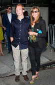 Fashon designer Nicole Miller and son Palmer Taipale are seen at Lincoln Center during MercedesBenz Fashion Week on September 5 2014 in New York City