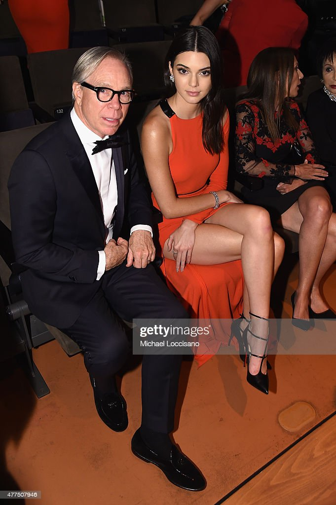 Fashon designer Tommy Hilfiger and Kendall Jenner attend the 2015 Fragrance Foundation Awards at Alice Tully Hall at Lincoln Center on June 17 2015...