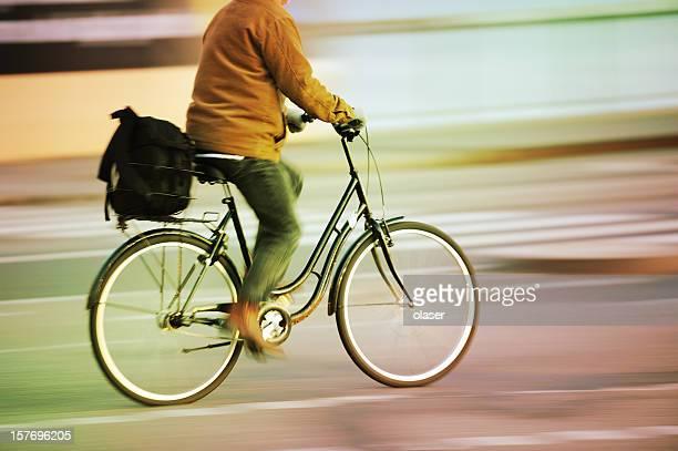 Fast サイクリングモーションブラーの交通渋滞