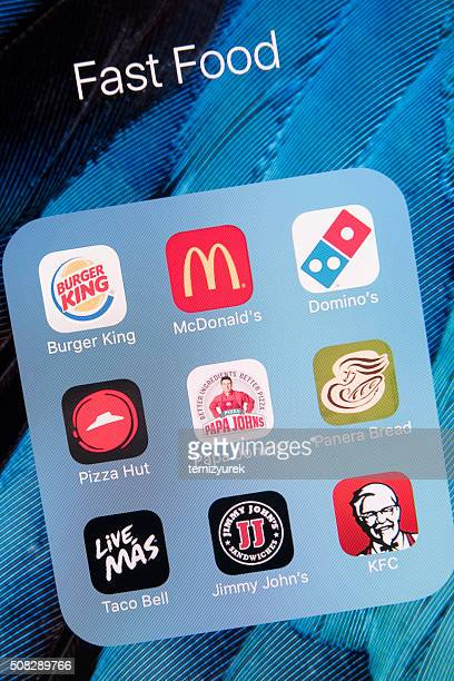 Fast Food Apps on Apple iPhone 6s Plus Screen