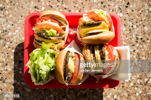 Fast food hamburgers
