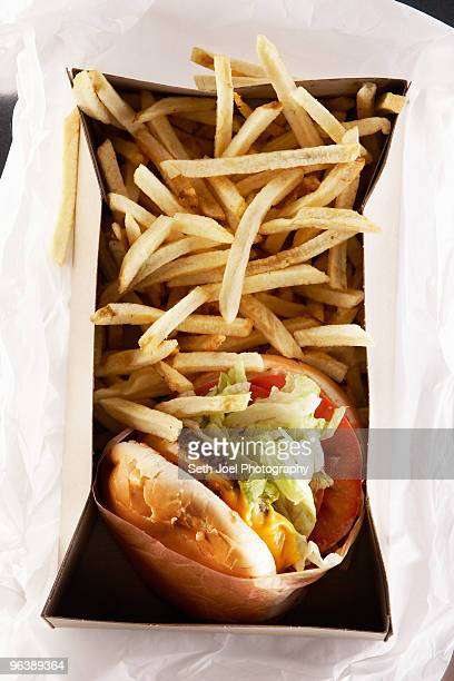 Fast food in take out box