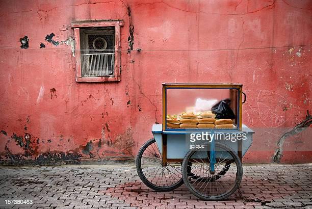 Comida rápida en la calle en Estambul