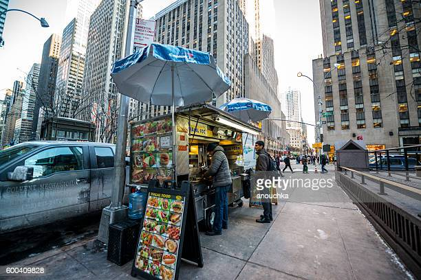 Fast Food Kiosk in New York, USA