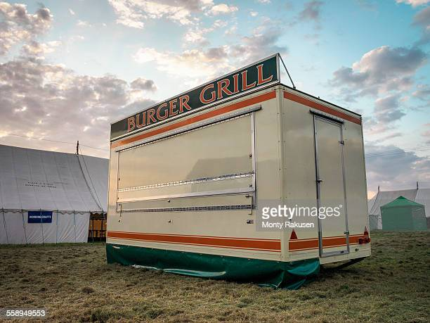 Fast food stand in English country show