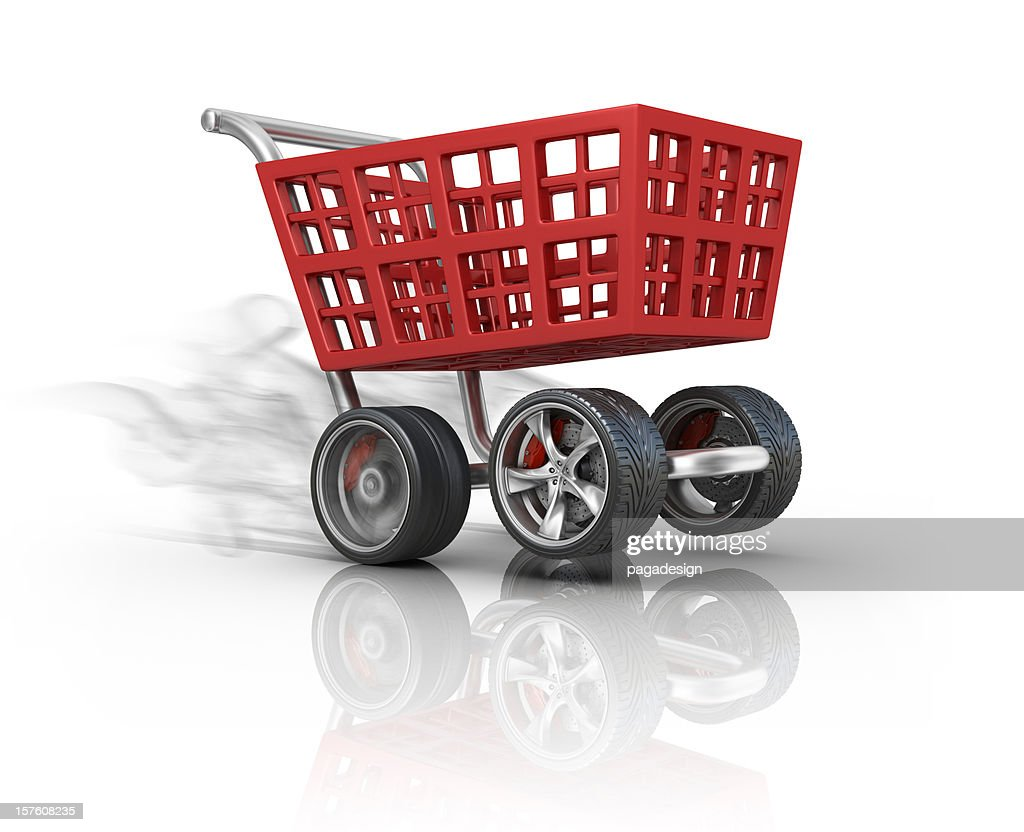 fast shoping : Stock Photo