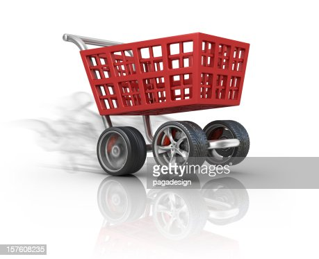fast shoping : Stockfoto