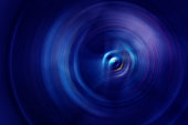 Blue abstract spinning background