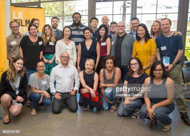 Fast Track Fellows and Film Independent Staff Back row Jeff Bemiss Danielle Krudy Drew Houpt Frederick Thornton Bing Liu Ryan Schwartz Sean Hackett...