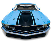 Fastback 1970 Mustang Muscle Car - XXXLarge