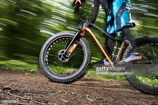 Fat bike in motion