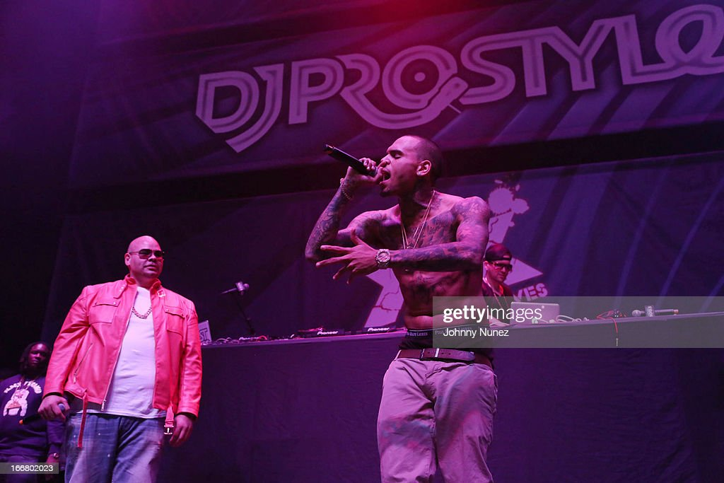 Fat Joe and Chris Brown perform at the 2nd Annual DJ Prostyle's Birthday Bash at Hammerstein Ballroom on April 16, 2013 in New York City.