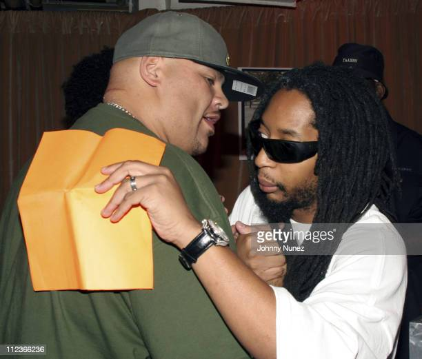 Fat Joe and Lil' Jon during Boost Mobile Rock Corp September 24 2005 at Radio City Music Hall in New York City New York United States