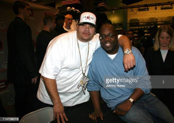 Fat Joe and Michael Kyser during Fat Joe and Team Jordan in Store Autograph Session April 19 2006 at Foot Locker 34th Street in New York New York...