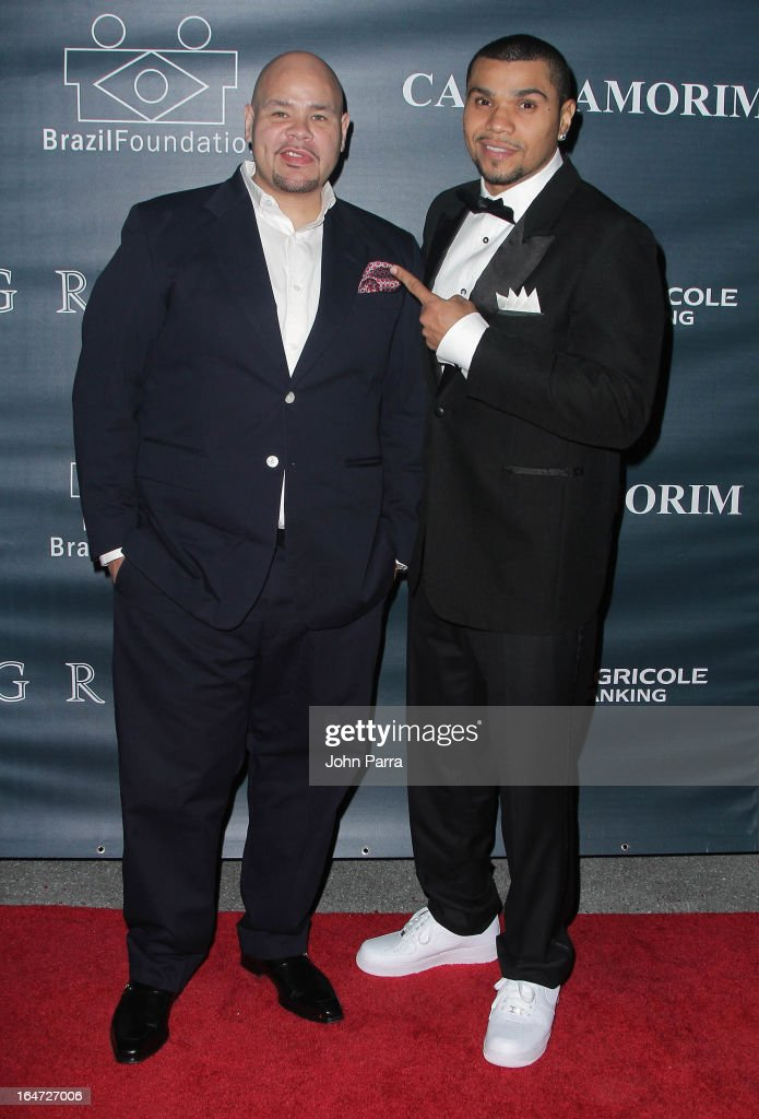 <a gi-track='captionPersonalityLinkClicked' href=/galleries/search?phrase=Fat+Joe&family=editorial&specificpeople=201584 ng-click='$event.stopPropagation()'>Fat Joe</a> and Naldo Benny attend the II BrazilFoundation Gala Miami at Vizcaya Museum & Gardens on March 26, 2013 in Miami, Florida.