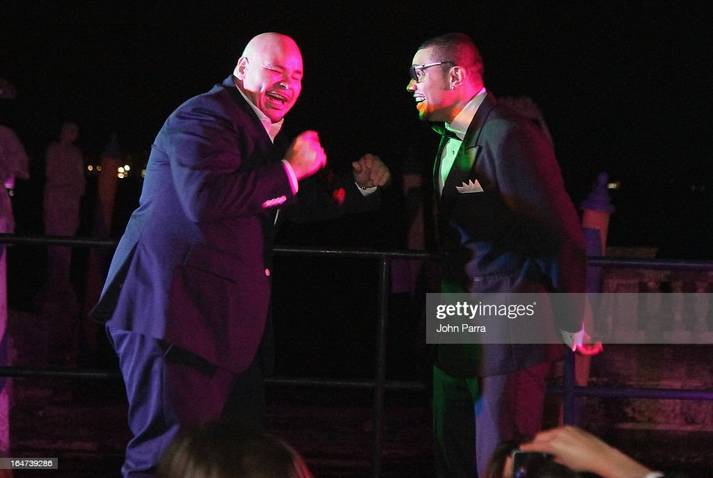<a gi-track='captionPersonalityLinkClicked' href=/galleries/search?phrase=Fat+Joe&family=editorial&specificpeople=201584 ng-click='$event.stopPropagation()'>Fat Joe</a> and Naldo Benny perform onstage at the II BrazilFoundation Gala Miami at Vizcaya Museum & Gardens on March 26, 2013 in Miami, Florida.