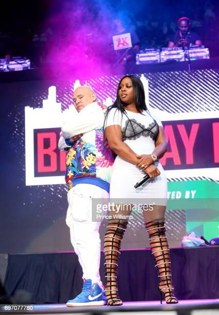Fat Joe and Remy Ma perform at Birthday Bash ATL The Pop Up Edition Concert at Philips Arena on June 17 2017 in Atlanta Georgia