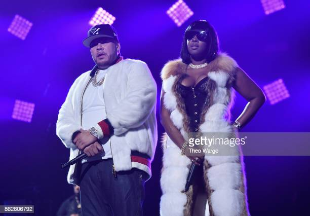 Fat Joe and Remy Ma perform onstage during TIDAL X Brooklyn at Barclays Center of Brooklyn on October 17 2017 in New York City