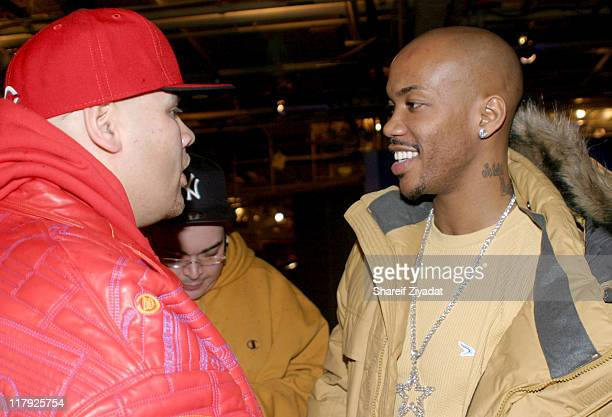 Fat Joe and Stephon Marbury of The New York Knicks