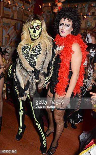 Fat Tony and David Graham attend 'Death Of A Geisha' hosted by Fran Cutler and Cafe KaiZen with Grey Goose on October 31 2014 in London England